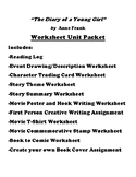 """""""The Diary of a Young Girl"""" by Anne Frank Worksheet Packet (10 Assignments)"""