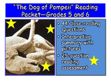 """""""The Dog of Pompeii"""" Close-reading Guide, Summary, and Tes"""