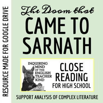 """""""The Doom That Came to Sarnath"""" by H.P. Lovecraft Close Reading Questions & Text"""