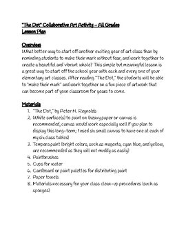"""The Dot"" Collaborative Art Activity - Lesson Plan"