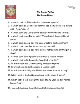 """""""The Dragon's Eye"""" By Dugold Steer, Battle of the Books Questions"""