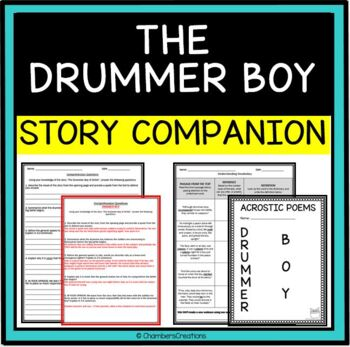 """""""The Drummer Boy of Shiloh"""" by Ray Bradbury- ACTIVITY PACK!"""