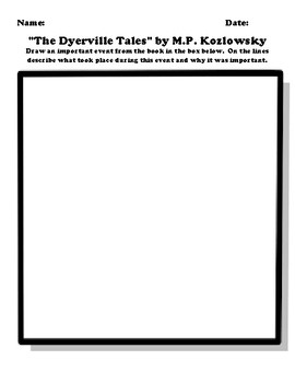 """""""The Dyerville Tales"""" by M.P. Kozlowsky Worksheet Packet"""