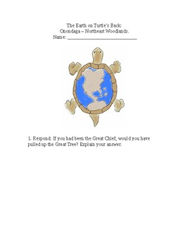 """The Earth On Turtle's Back"" Reading Response Questions"