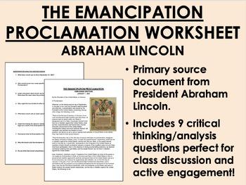 """""""The Emancipation Proclamation"""" - Abraham Lincoln - Civil War - USH/APUSH"""