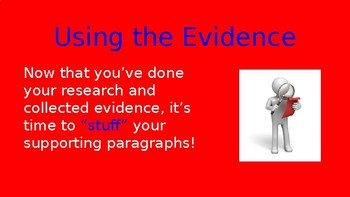 """The Evidence in orEo"" Persuasive Writing PowerPoint"