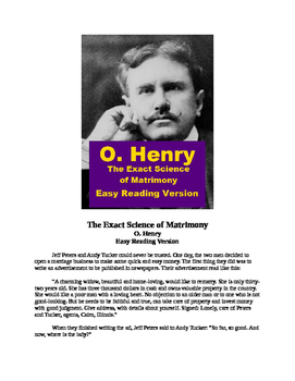 O. Henry - 'The Exact Science of Matrimony' Mp3 and Easy Reading Text