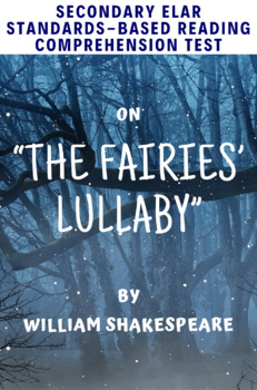"""The Fairies' Lullaby"" Poem by W. Shakespeare Multiple-Choice Reading Test"