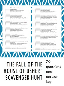 """""""The Fall of the House of Usher"""" Scavenger Hunt"""