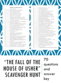 """The Fall of the House of Usher"" Scavenger Hunt"