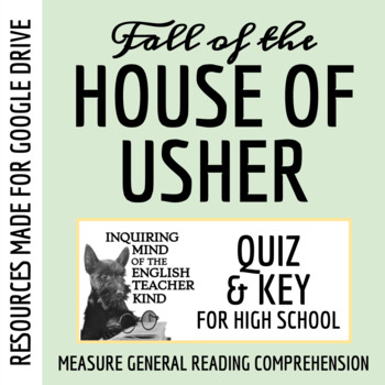 """The Fall of the House of Usher"" by Edgar Allan Poe - Quiz & Key"