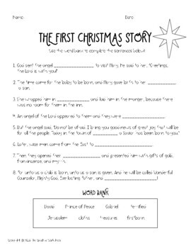 the first christmas story booklet by the creative workshop tpt