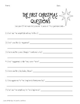 """""""The First Christmas"""" Booklet"""