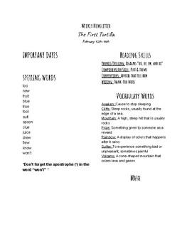 """""""The First Tortilla"""" Monday Newsletter"""