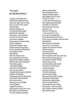 """The Fish"" by Elizabeth Bishop -- STAAR Poetry Questions"