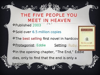 """""""The Five People You Meet in Heaven"""" Power Point Notes"""
