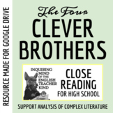 """""""The Four Clever Brothers,"""" a Grimms' Fairy Tale - Guided Reading Worksheet"""