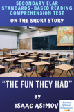 """The Fun They Had"" Short Story by Isaac Asimov Reading Test"
