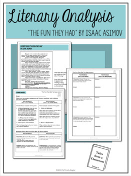 """The Fun They Had"" by Isaac Asimov Literary Analysis Graphic Organizers"
