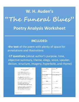"""The Funeral Blues"" Poetry Analysis (W.H. Auden)"
