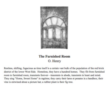 """""""The Furnished Room"""" by O. Henry Short Story Lesson and Activity Pack"""