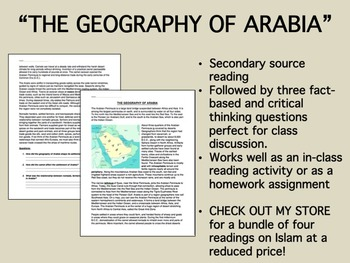 """""""The Geography of Arabia"""" reading/questions - Global/World History"""