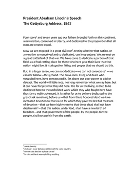 """""""The Gettysburg Address"""" Annotated Lesson Plan"""