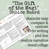 """""""The Gift of the Magi"""" Project and Activity Menu (Independent Work)"""