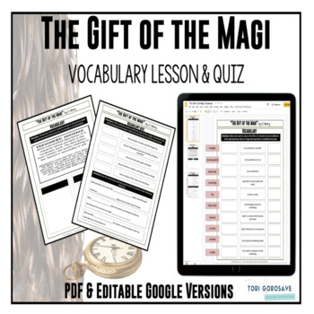 """The Gift of the Magi"" Vocabulary Lesson {Google Digital R"