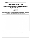 """""""The Girl Who Threw Butterflies"""" By Mick Cochra MOVIE POSTER & HOOK UDL WS"""