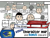 """The Giver"" Visual Character Map (With BONUS Clip-Art!)"