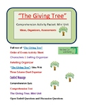 """""""The Giving Tree"""" Comprehension Activity Packet- Mini Unit"""
