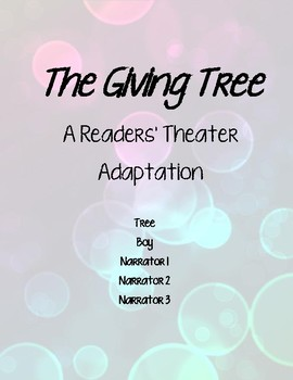 """""""The Giving Tree"""" Readers' Theater"""