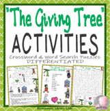 The Giving Tree Activities Shel Silverstein Crossword Puzzle & Word Searches