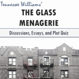 """""""The Glass Menagerie"""" Essay Topics, Rubric, and Plot Quiz (Multiple Formats)"""