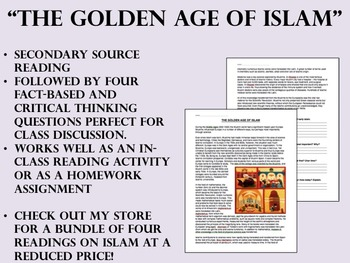 """""""The Golden Age of Islam"""" reading/questions - Global/World History"""