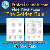 """The Golden Rule"" Word Search Game"