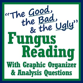 Fungus Decomposers Reading & Graphic Organizer Worksheet Activity middle school
