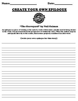 """The Graveyard"" by Neil Gaiman Epilogue Worksheet"