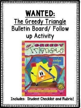 """The Greedy Triangle"" Bulletin Board / Follow up Activity!"