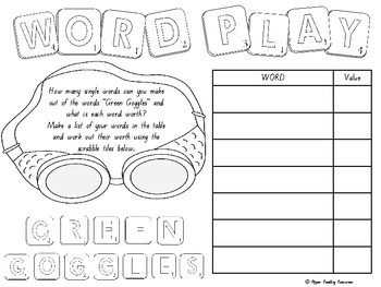 """The Green Goggles"" by Kris Sheather - comprehension resources (Years 2 to 5)"