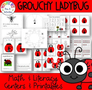 'The Grouchy Ladybug' Literacy and Math Activities and Centers