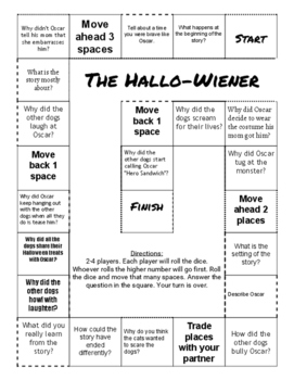 """The Hallo-Wiener"" Comprehension Game Board"