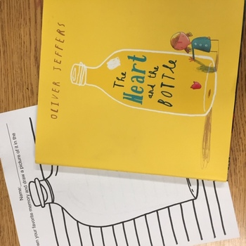 """""""The Heart And The Bottle"""" drawing and writing activity"""