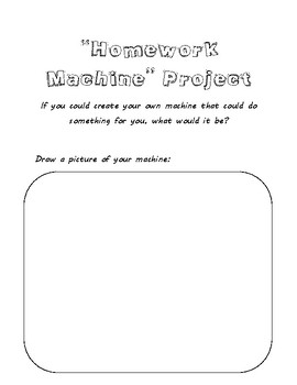 """The Homework Machine"" by Dan Gutman writing project"