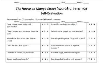 """The House on Mango Street"" Socratic Seminar"