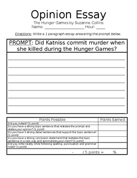 Types Of English Essays The Hunger Games By Suzanne Collins Opinion Essay How To Start A Science Essay also Healthy Food Essay The Hunger Games By Suzanne Collins Opinion Essay  Tpt Science And Society Essay
