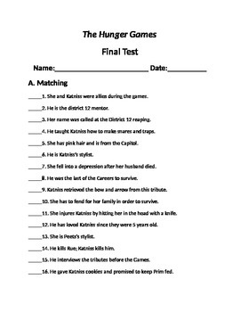 """The Hunger Games' final novel test"