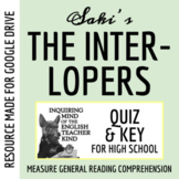 """The Interlopers"" by Saki - Quiz & Key"
