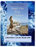 """""""The Island of the Blue Dolphin"""" Literature Circle Novel Unit"""